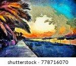 Tropical Paradise Landscape And ...