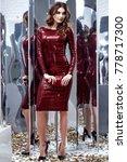 sexy fashion beautiful brunette ... | Shutterstock . vector #778717300