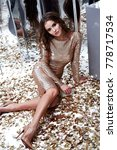 beautiful sexy woman wear... | Shutterstock . vector #778717534