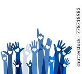 group of raising hands with... | Shutterstock .eps vector #778718983