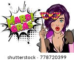 pop art woman girl wow face... | Shutterstock .eps vector #778720399