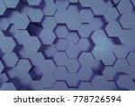 3d rendering of abstract...   Shutterstock . vector #778726594