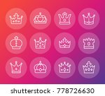 crowns line icons set  royalty  ... | Shutterstock .eps vector #778726630