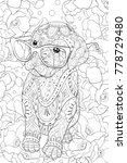 Adult Coloring Book Page A...