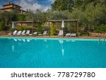 pool at a nice old villa in... | Shutterstock . vector #778729780