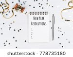 list of new year resolutions in ... | Shutterstock . vector #778735180