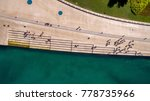 Zadar Sea Organ Aerial View...