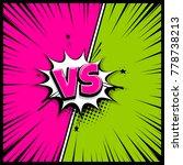 comics book empty colored... | Shutterstock .eps vector #778738213