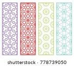 decorative geometric line... | Shutterstock .eps vector #778739050