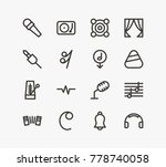 melody icon line set with plug  ...   Shutterstock .eps vector #778740058