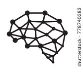 brain icon vector. brain lines... | Shutterstock .eps vector #778740283