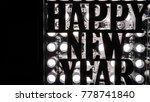 happy new year lettering in... | Shutterstock . vector #778741840