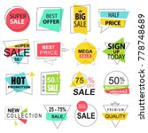 sale labels collection modern.... | Shutterstock .eps vector #778748689