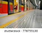 metal tactile strips with an... | Shutterstock . vector #778755130