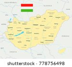 hungary map and flag   high... | Shutterstock .eps vector #778756498
