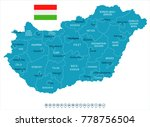 hungary map and flag   high... | Shutterstock .eps vector #778756504