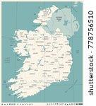 ireland map  vintage high... | Shutterstock .eps vector #778756510