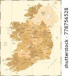 ireland map   vintage high... | Shutterstock .eps vector #778756528