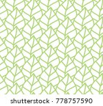 vector illustration of leaves... | Shutterstock .eps vector #778757590