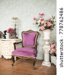 purple armchair in white room... | Shutterstock . vector #778762486