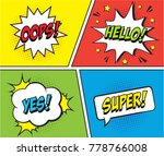 retro comic speech bubbles set...   Shutterstock .eps vector #778766008
