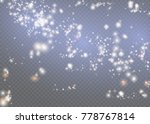 white sparks and stars glitter... | Shutterstock .eps vector #778767814