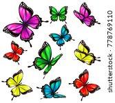 beautiful color butterflies set ...   Shutterstock .eps vector #778769110