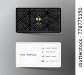 modern business card template... | Shutterstock .eps vector #778775350