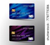 modern credit card set...   Shutterstock .eps vector #778775386