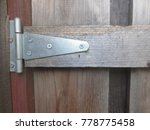 hinge on gate | Shutterstock . vector #778775458