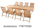 teak garden furniture set in... | Shutterstock . vector #778775500