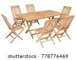 teak wood garden furniture set  ... | Shutterstock . vector #778776469