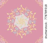mandala floral pattern colored... | Shutterstock .eps vector #778789318