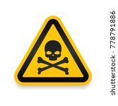 skull and bones logo warning... | Shutterstock .eps vector #778791886