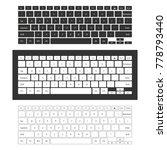 laptop keyboard set | Shutterstock .eps vector #778793440