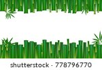 Green Bamboo Tropical Panorama...