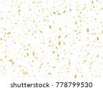 golden tinsel falling confetti. ... | Shutterstock .eps vector #778799530