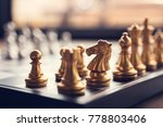 chess game competition business ...   Shutterstock . vector #778803406