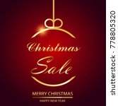 christmas sale background with... | Shutterstock .eps vector #778805320