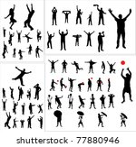 set of silhouettes of sports... | Shutterstock .eps vector #77880946