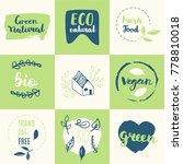 fresh  organic  gluten free ... | Shutterstock .eps vector #778810018