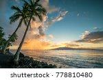 sunset over lanai | Shutterstock . vector #778810480