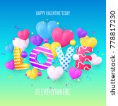 happy valentine's day abstract... | Shutterstock .eps vector #778817230