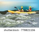 kayaking together extreme sport | Shutterstock .eps vector #778821106