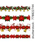 vector christmas border | Shutterstock .eps vector #778822744