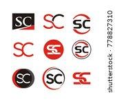 sc logo design template vector... | Shutterstock .eps vector #778827310