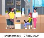 people working in coworking... | Shutterstock .eps vector #778828024