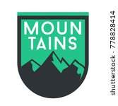 green mountain badge symbol   Shutterstock .eps vector #778828414