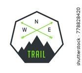 trail mountain badge symbol   Shutterstock .eps vector #778828420