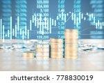 coin stacks   business money... | Shutterstock . vector #778830019